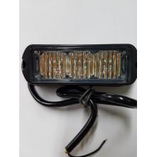 LED STROBO 3 X LED 12/24V ORANŽNA BARVA R65 R10 1278