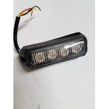 LED STROBO 4 X LED 12/24V ORANŽNA R65 R10 1303