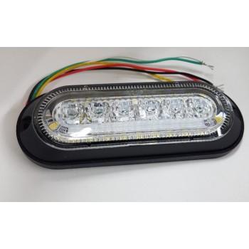 LED MODRA TANKA STROBO 10-30V-1329