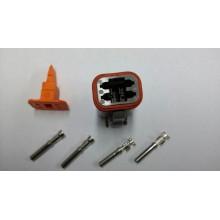 4044 Deutsch konektor 4 polni z ženskimi končniki in zaklopom