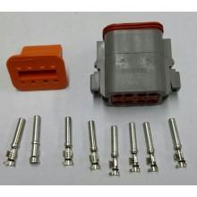 4048 Deutsch konektor 8 polni z ženskimi končniki in zaklopom