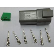4056 Deutsch konektor 6 polni z moškimi končniki in zaklopom