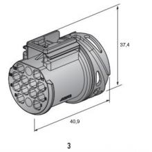 moški RC 280 konektor 12-pol
