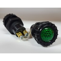 Ohišje za signalno lučko 947 - Zeleno (FI 17mm)