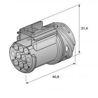 moški RC 280 konektor 8-pol